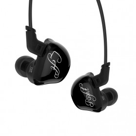 Knowledge Zenith 6 Coil Driver Earphone - KZ-ZSR - Black
