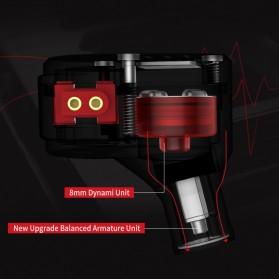 Knowledge Zenith Hybrid Driver Earphone HiFi DA + BA Dengan Mic - KZ-ZSA - Black/Red - 3