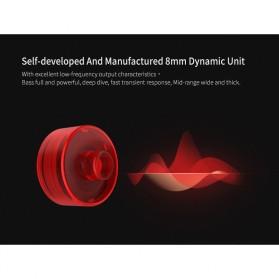 Knowledge Zenith Hybrid Driver Earphone HiFi DA + BA Dengan Mic - KZ-ZSA - Black/Red - 5