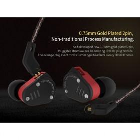 Knowledge Zenith Hybrid Driver Earphone HiFi DA + BA Dengan Mic - KZ-ZSA - Black/Red - 6