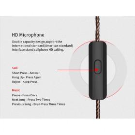 Knowledge Zenith Hybrid Driver Earphone HiFi DA + BA Dengan Mic - KZ-ZSA - Black/Red - 7