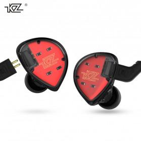 Knowledge Zenith Hybrid Driver Earphone HiFi DA + BA Dengan Mic - KZ-ES4 - Black - 2