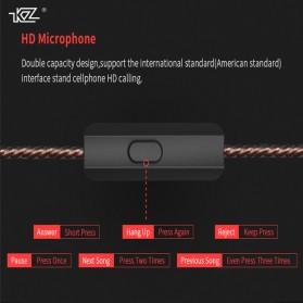Knowledge Zenith Hybrid Driver Earphone HiFi DA + BA Dengan Mic - KZ-ES4 - Black - 3