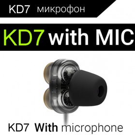 QKZ Earphone HiFi Quad Driver Dengan Mic - QKZ-KD7 - Black