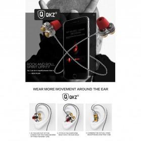 QKZ Earphone HiFi Quad Driver Dengan Mic - QKZ-KD7 - Black - 4