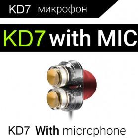QKZ Earphone HiFi Quad Driver Dengan Mic - QKZ-KD7 - White