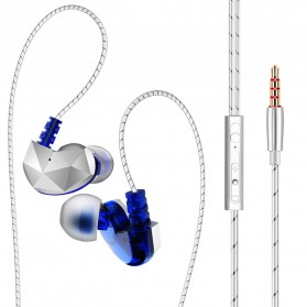 QKZ Earphone HiFi BA Dengan Mic - QKZ-CK6 - Blue