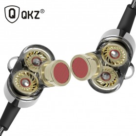 QKZ Earphone HiFi Quad Driver Dengan Mic - QKZ-KD2 - Black