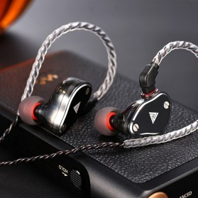 QKZ HiFi Earphone 4 Dynamic Driver - QKZ-VK6 - Black - 2