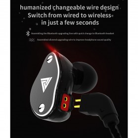 QKZ HiFi Earphone 4 Dynamic Driver - QKZ-VK6 - Black - 7
