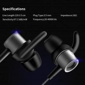 QKZ HiFi Earphone Stereo Sport with Mic - QKZ-CK1 - Black - 6