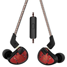 Knowledge Zenith Earphone Balanced Driver 5BA Dengan Mic - KZ-AS10 - Black/Red