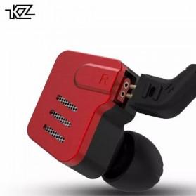 Knowledge Zenith Earphone Balanced Driver 5BA Dengan Mic - KZ-AS10 - Black/Red - 2