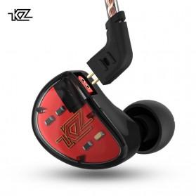 Knowledge Zenith Earphone Balanced Driver 5BA Dengan Mic - KZ-AS10 - Black/Red - 4