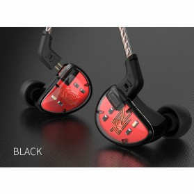 Knowledge Zenith Earphone Balanced Driver 5BA Dengan Mic - KZ-AS10 - Black/Red - 6