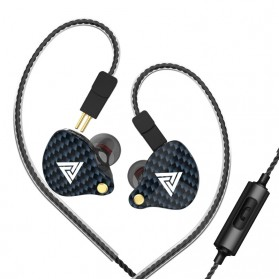 QKZ HiFi Earphone Bass Dynamic Driver with Mic - QKZ-VK4 - Black