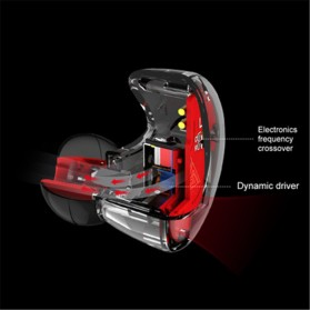 QKZ HiFi Earphone Bass Dynamic Driver with Mic - QKZ-VK5 - Black - 3