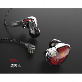 QKZ HiFi Earphone Bass Dynamic Driver with Mic - QKZ-VK5 - Black - 6