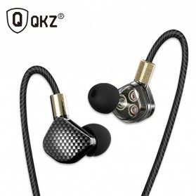QKZ HiFi Earphone 6 Loudpseaker Dynamic Driver with Mic - QKZ-KD6 - Black