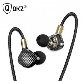 QKZ HiFi Earphone 6 Loudpseaker Dynamic Driver with Mic - QKZ-KD6 - Black - 1