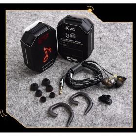 QKZ HiFi Earphone 6 Loudpseaker Dynamic Driver with Mic - QKZ-KD6 - Black - 10