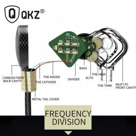 QKZ HiFi Earphone 6 Loudpseaker Dynamic Driver with Mic - QKZ-KD6 - Black - 2