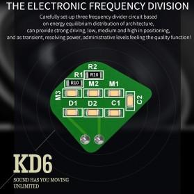 QKZ HiFi Earphone 6 Loudpseaker Dynamic Driver with Mic - QKZ-KD6 - Black - 3