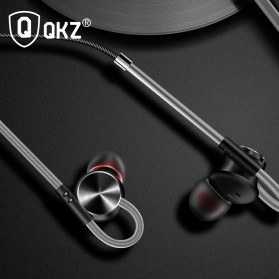 QKZ HiFi Earphone Bass Dynamic Driver with Mic - QKZ-DM10 - Black - 5