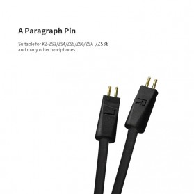 KZ Bluetooth APTX Cable Pin A for Earphone KZ-ZS3/ZS5/ZS6/ZSA - Black