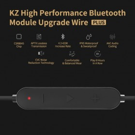KZ Bluetooth APTX Cable Pin B for for Earphone KZ-ZST/ZS10/ES3/ES4 - Black - 7