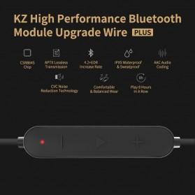 KZ Bluetooth APTX Cable Pin MMCX for Earphone - Black - 6