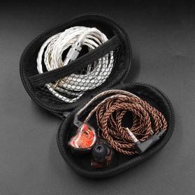 Knowledge Zenith Kotak Penyimpanan Earphone EVA Case - KZ015 - Black - 4
