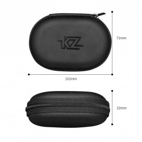 Knowledge Zenith Kotak Penyimpanan Earphone EVA Case - KZ015 - Black - 5