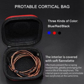 Knowledge Zenith Kotak Penyimpanan Earphone EVA Case - ZS10 - Red - 2