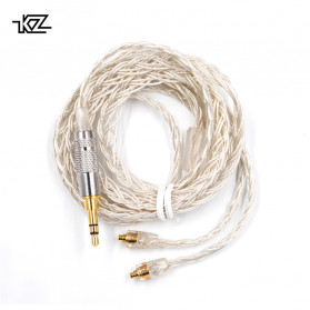 KZ Kabel MMCX Earphone Silver Plating for AS10 ZS10 ZST ES3 ED12 ZS5 ZS6 - Silver