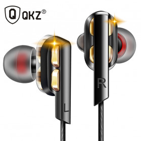 QKZ In-Ear Earphones Bass HIFI Headset with Microphone - QKZ-AK4 - Black