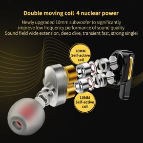 QKZ In-Ear Earphones Bass HIFI Headset with Microphone - QKZ-AK4 - Black - 3