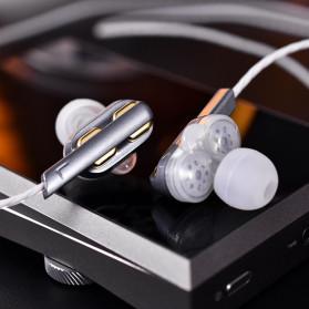 QKZ In-Ear Earphones Bass HIFI Headset with Microphone - QKZ-AK4 - Black - 4