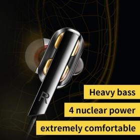QKZ In-Ear Earphones Bass HIFI Headset with Microphone - QKZ-AK4 - Black - 8