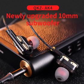 QKZ In-Ear Earphones Bass HIFI Headset with Microphone - QKZ-AK4 - Black - 9