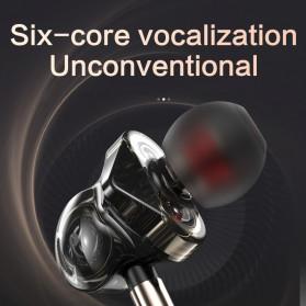 QKZ In-Ear Earphones Bass HIFI Headset with Microphone - QKZ-CK10 - Black - 2