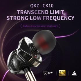 QKZ In-Ear Earphones Bass HIFI Headset with Microphone - QKZ-CK10 - Black - 5