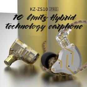 Knowledge Zenith Earphone HiFi 1DD + 4BA Driver with Mic - KZ-ZS10 Pro - Golden - 5