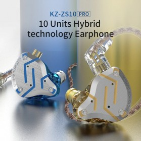 Knowledge Zenith Earphone HiFi 1DD + 4BA Driver with Mic - KZ-ZS10 Pro - Golden - 6