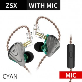 Knowledge Zenith Terminator Earphone HiFi  1DD + 5BA Driver with Mic - KZ-ZSX - Green