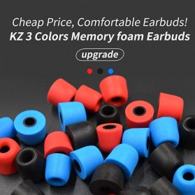Knowledge Zenith Earbuds Eartips Memory Foam 3 Size - Black - 3