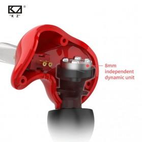Knowledge Zenith Earphone HiFi Dynamic Driver - KZ-ZS3E - Red - 3