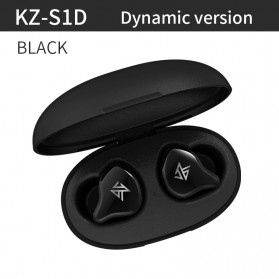 Knowledge Zenith TWS True Wireless Earphone Bluetooth 5.0 Dynamic Driver with Charging Dock - KZ-S1D - Black - 1