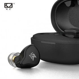 Knowledge Zenith TWS True Wireless Earphone Bluetooth 5.0 Dynamic Driver with Charging Dock - KZ-S1D - Black - 3