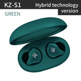 Knowledge Zenith TWS True Wireless Earphone Bluetooth 5.0 Hybrid Driver 1DD+1BA with Charging Dock - KZ-S1 - Green